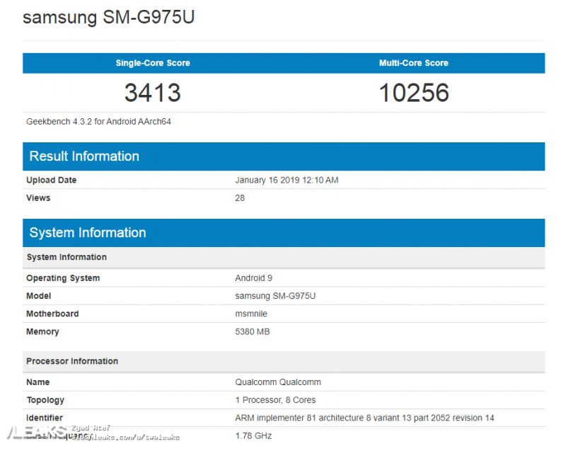 Samsung Galaxy S10 Plus gets benchmarked