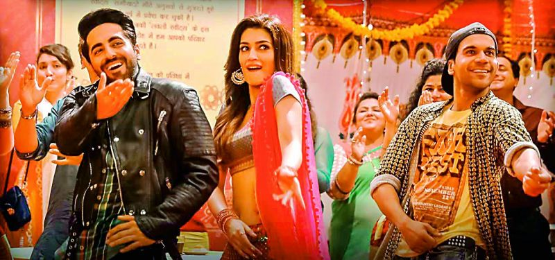 A still from Bareilly Ki Barfi starrring Ayushmann Khurrana, Kriti Sanon and Rajkummar Rao.