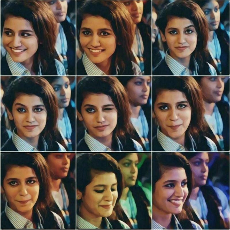 Priya Prakash Varrier's expressions in the viral video.