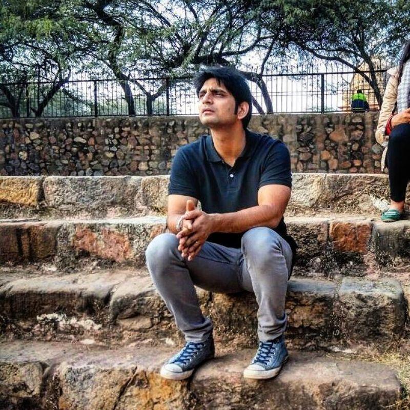 Asif during one of the walks organised by Delhi Karavan