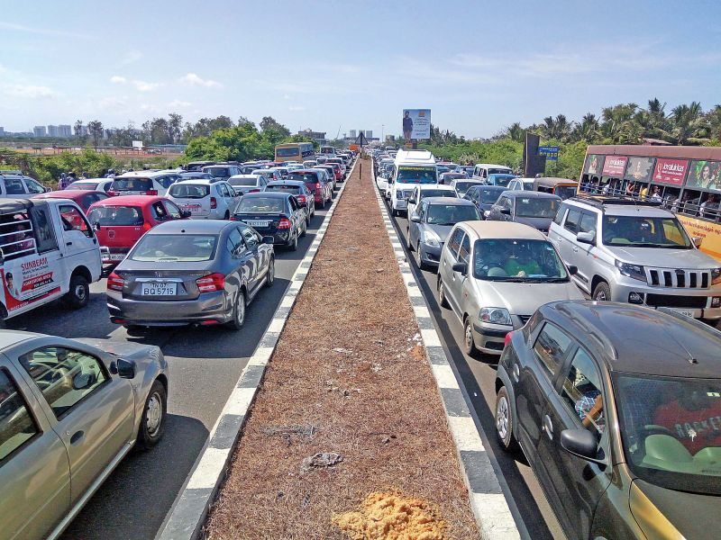 With a large number of people heading to expo, ECR traffic was badly hit .	(Photo:DC)