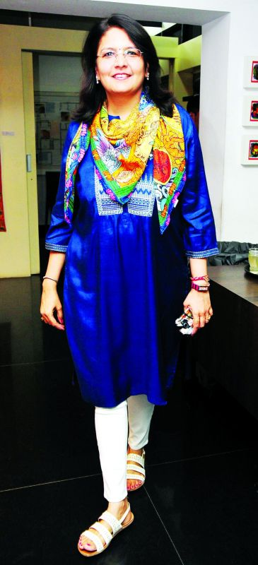Rekha Lahoti, owner of Kalakriti Art Gallery