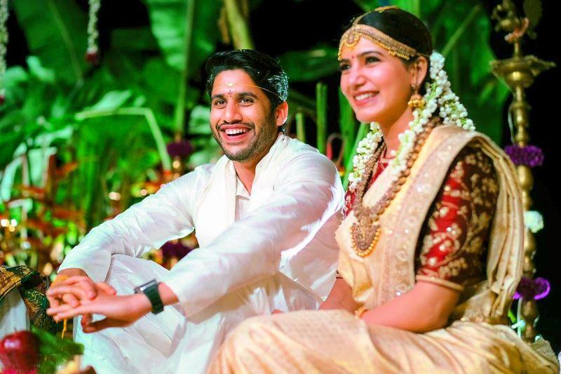 Naga Chaitanya and Samantha are all smiles at their wedding