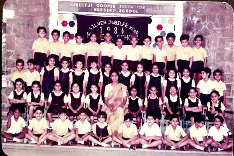 Rani shares a throwback picture from her school days.