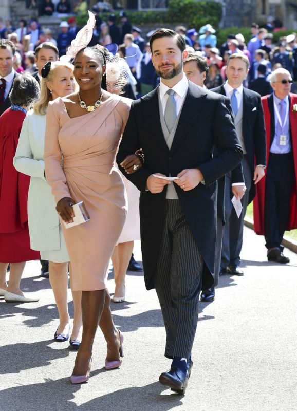 Serena Williams and her husband Alexis Ohanian. (Photo: AP)