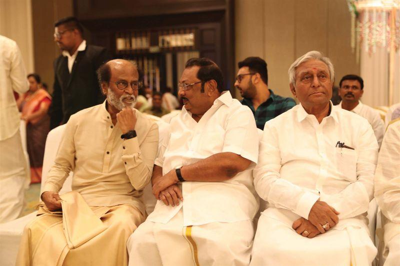 With Azhagiri and Sathyanarayana Rao