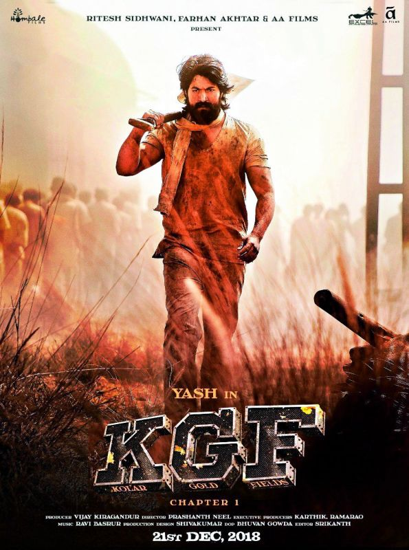 Actor Yash in KGF Chapter 1. The film released in multiple languages, was a huge hit. Now, Chapter 2 will hit the screens in 2020. Sanjay Dutt and Raveena Tandon are playing important roles