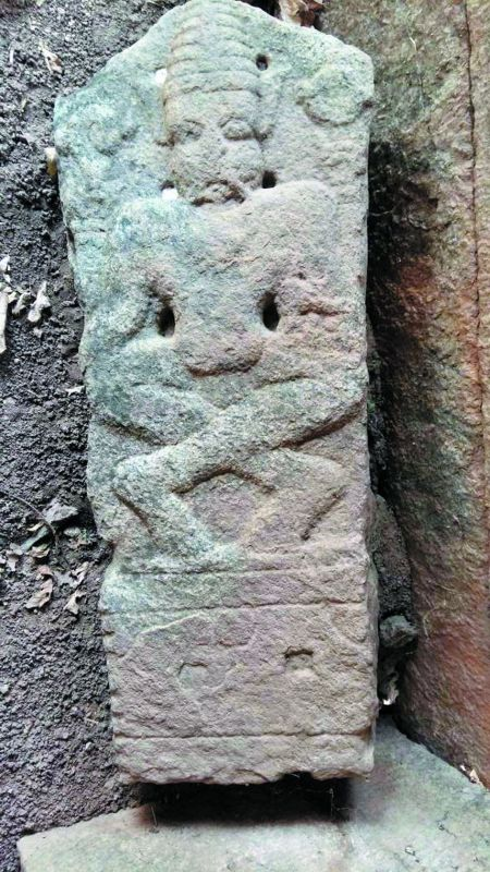 A historic idol of Yoga Narasimha found in Penpahad village in Suryapet district.