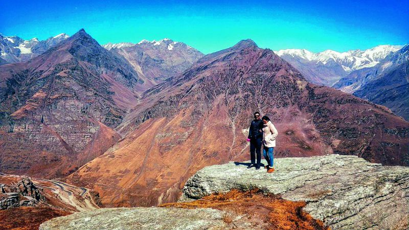 Allu Arjun and Sneha Reddy cooling their heels during their holiday at Rohtang Pass at Manali