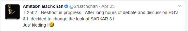Pics: Amitabh Bachchan looks dashing in his new and unusual Sarkar look