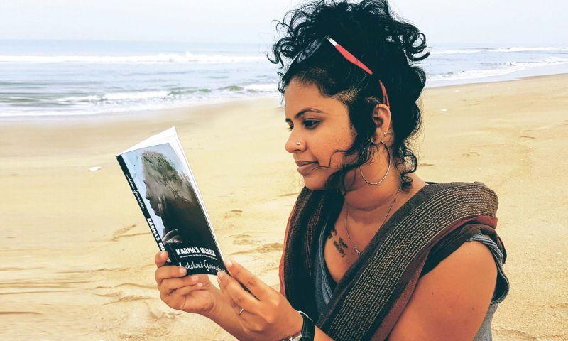 Lekshmi with her book