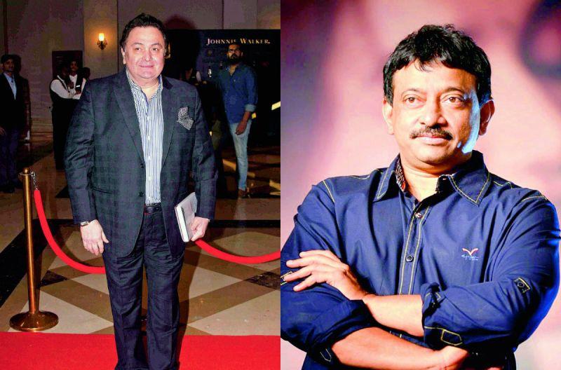 (Left) Ram Gopal Varma; (right) Rishi Kapoor