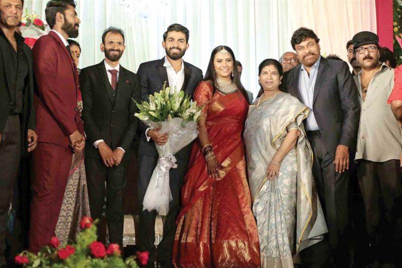 Yuva Rajkumar, Sridevi Byrappa, Surekha Konidala, Chiranjeevi and Ravichandran
