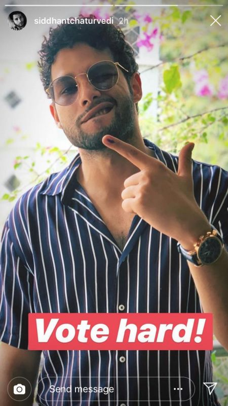 Siddhant Chaturvedi urges people to vote. (Photo: Instagram)