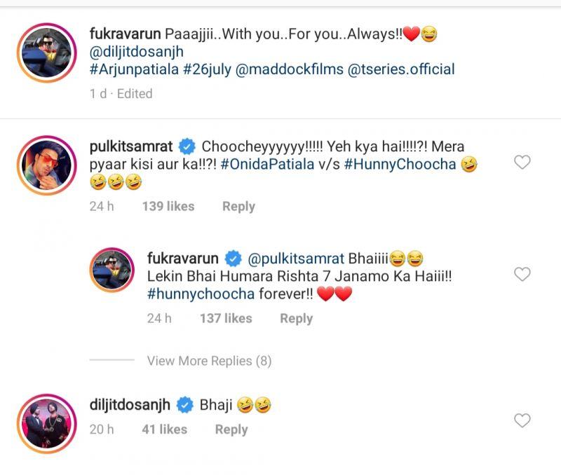 Pulkit Samrat's funny comment. (Photo: Instagram)