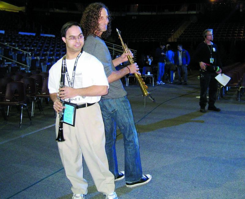 Sujeet Desai with Kenny G