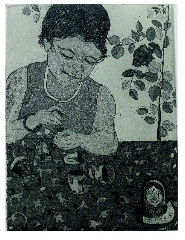 personal touch: Madhumita Das' works are the objects and people in her immediate surroundings