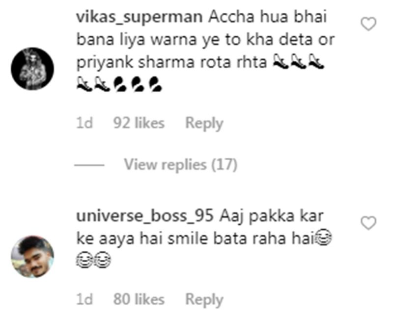 Comments on Krystal D'souza's picture with Hardik Pandya. (Photo: Instagram)