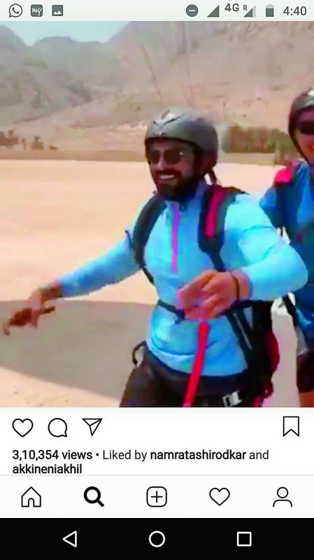 Upasna uploaded this video of Charan with the caption: Dearest babai, U've always inspired me to do daring things in life & films, this is for u — did it with some help the first time ... (sic)