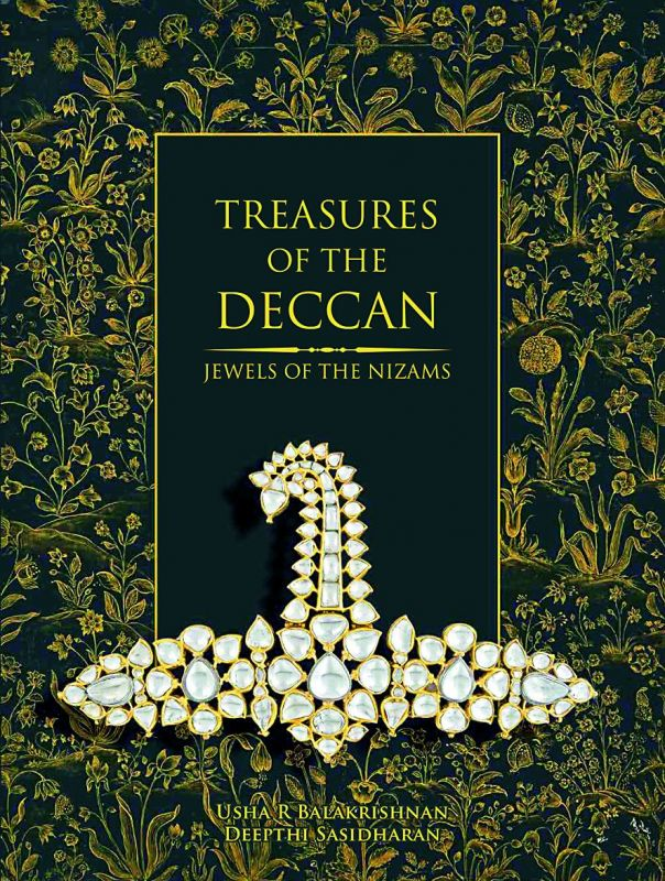 (Left) Book cover of the twin books, Treasures of the Deccan.