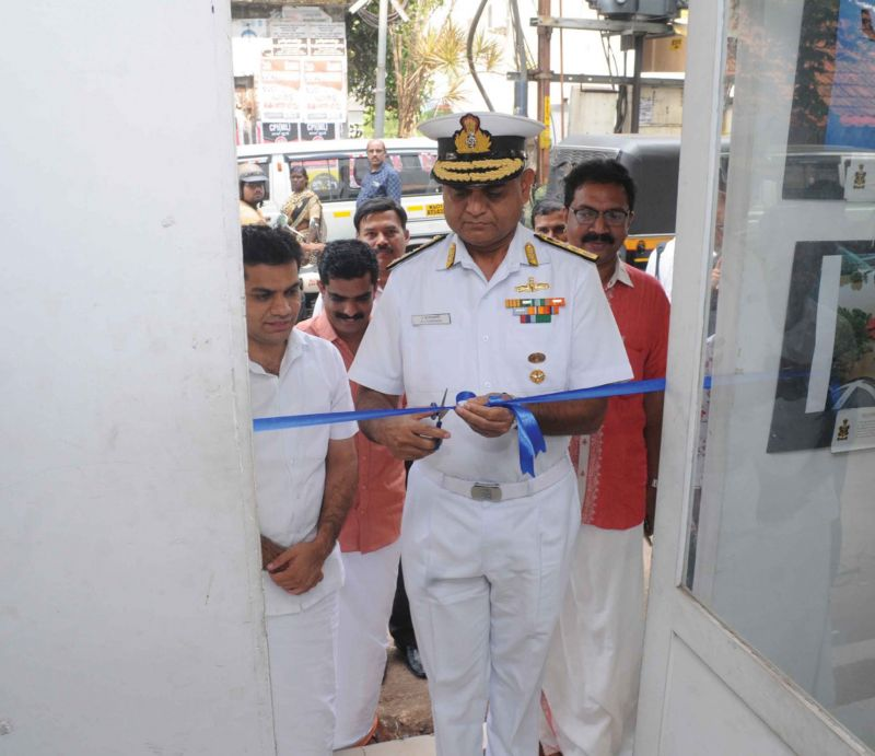 The exhibition being inaugurated by Rear Admiral R.J Nadkarni
