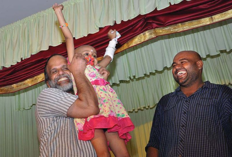 Dr Gangadharan with a patient and director Siddhartha Shiva (File pic).