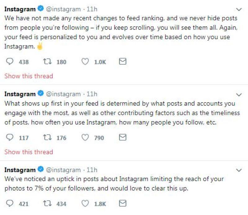 Instagram tweets