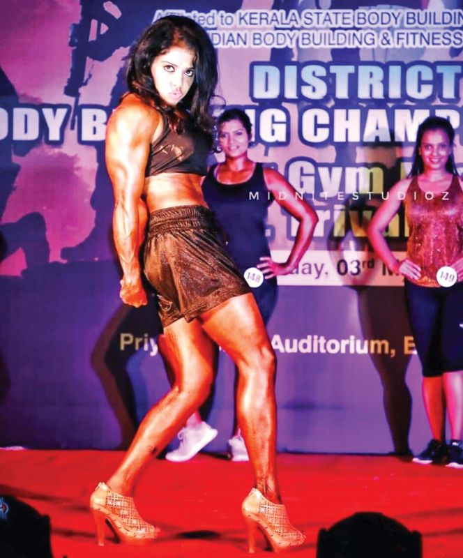 Sreeya during a body building championship