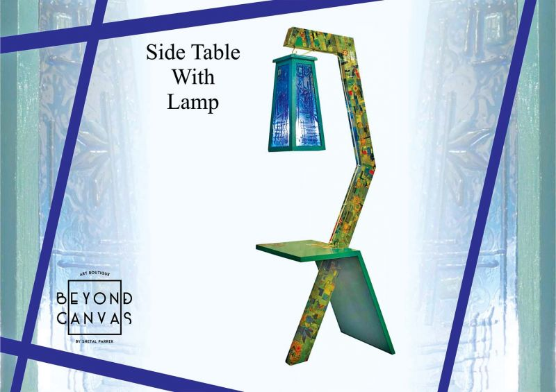 Side table with lamp