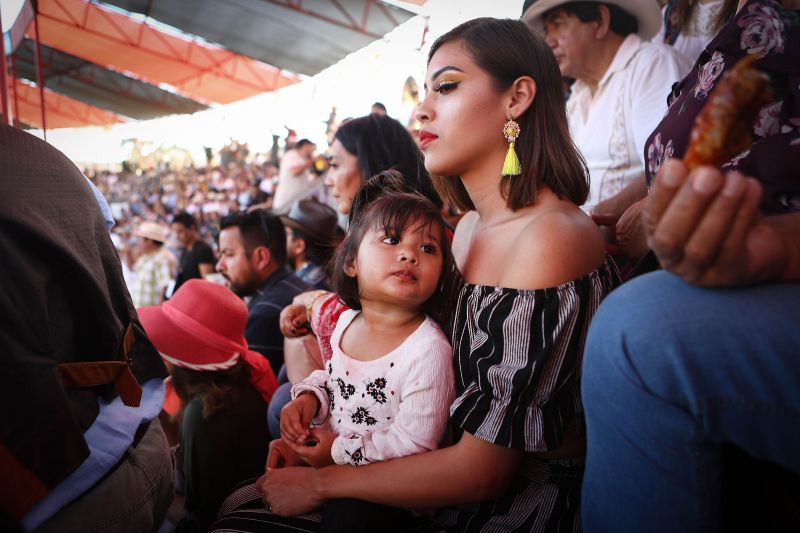 People sit in the stands at a sold-out bullfight on April 8, 2018 in Tijuana, Mexico.Many religious festivals are linked to bullfighting in Mexico. (Photo: AFP)