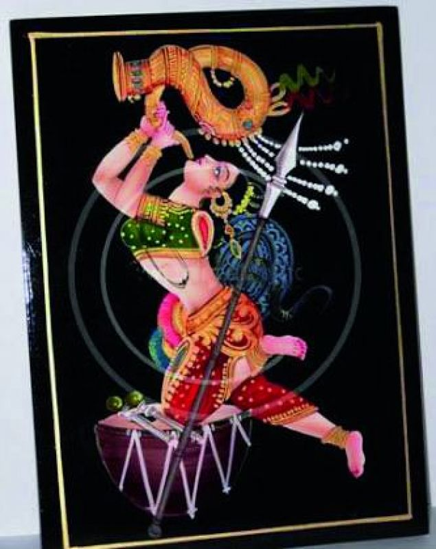A drawing of a woman blowing a trumpet, with her leg on a drum. A sculpture will be made of the same design and placed under the Gachibowli flyover. (Photo: DC)
