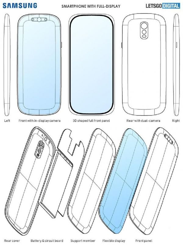 Samsung Galaxy S11 blueprint
