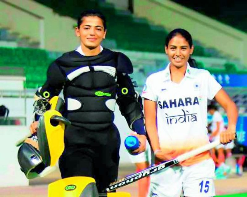 backbones: Goalkeeper Savita Punia (left) was the standout performer in the recent Asia Cup, where India won the gold.