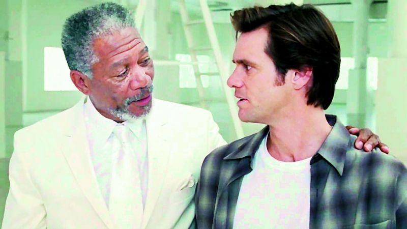 A still from Bruce Almighty
