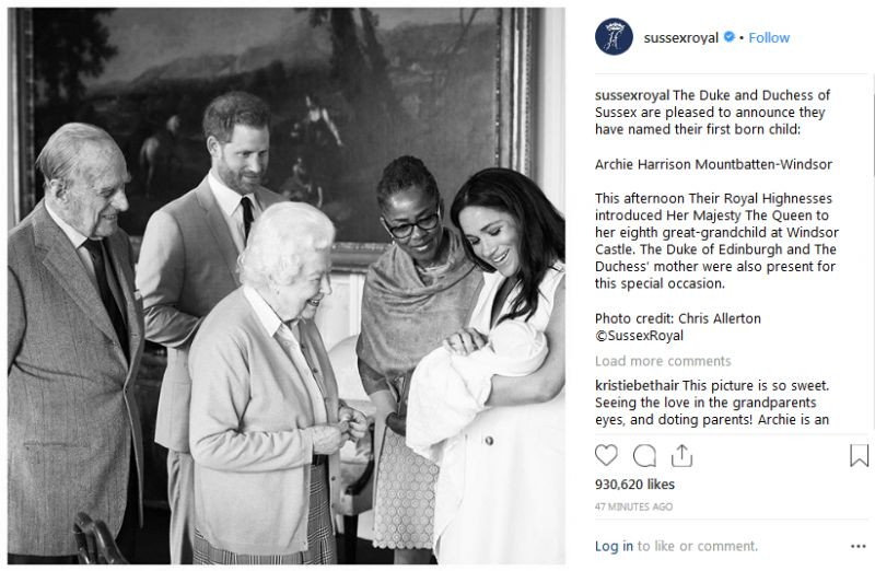 Archie Harrison is the first Anglo-American member of the British royal family ever and is eligible for US citizenship should his parents want it. (Photo: Instagram/sussexroyal)