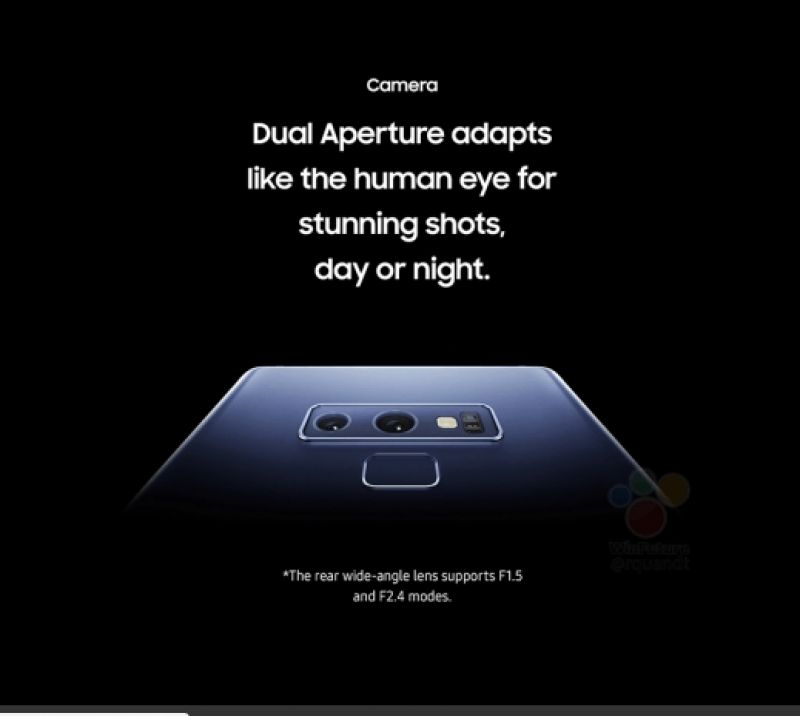 Galaxy Note 9 leaks