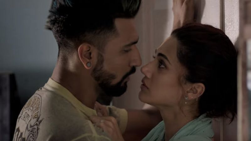 Vicky Kaushal and Taapsee Pannu in the still from 'Manmarziyaan' trailer. (Courtesy: YouTube/ErosNow)