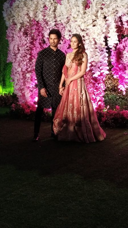 Shahid Kapoor with wife Mira Rajput. (ANI Photo)