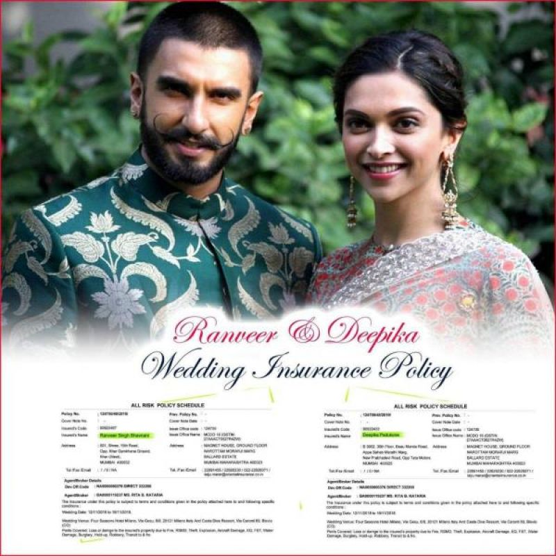 Deepveer Wedding Was Insured It Costs A Bomb To Keep The Guests