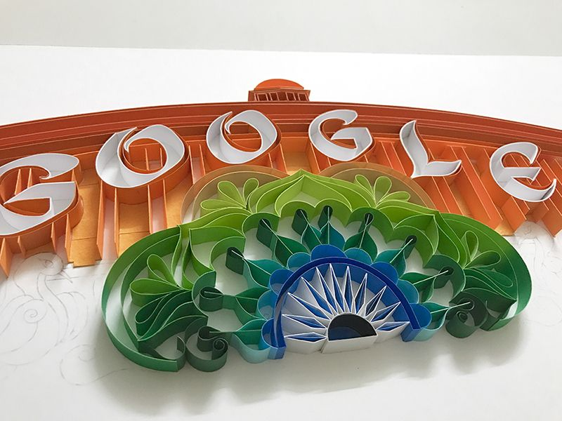 The Ashok Chakra forms an integral part of the doodle as the Indian Parliament stands in the background (Photo: Google)