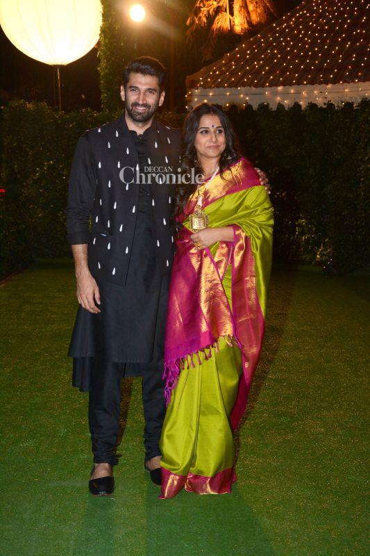 Aditya Roy Kapur And Sister In Law Vidya Balan Pose Together