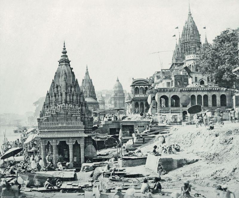 Varanasi (formerly Benares), Vishnu temples on the Ganges.