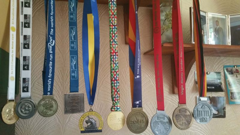 Medals barring the Chicago one.