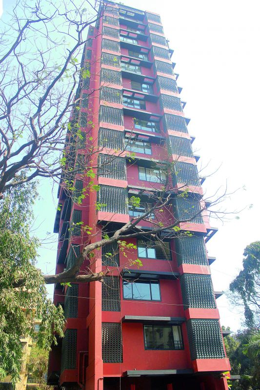 A photo of the building Flying Carpet where Arpita is said to have bought her a home.