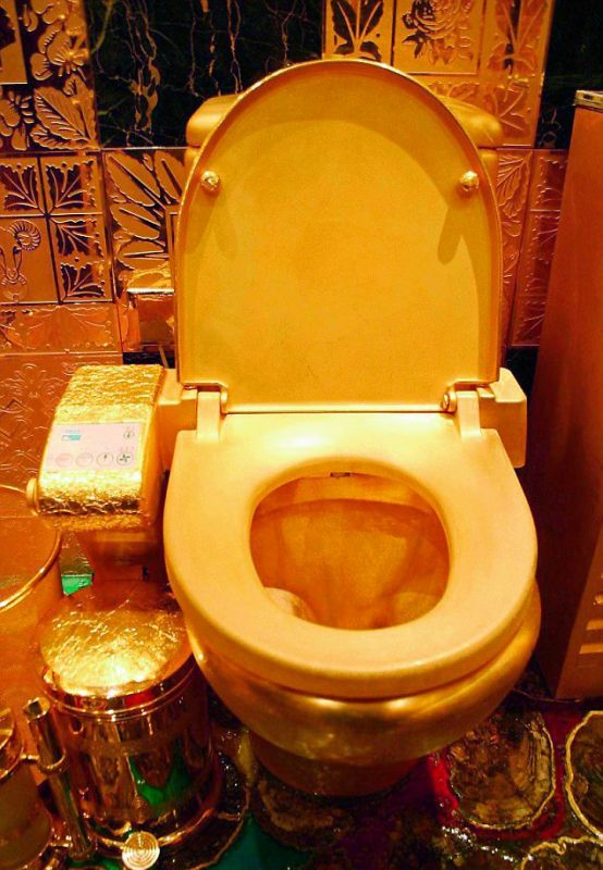 Kim and Kanye West Gold Plated Toilet