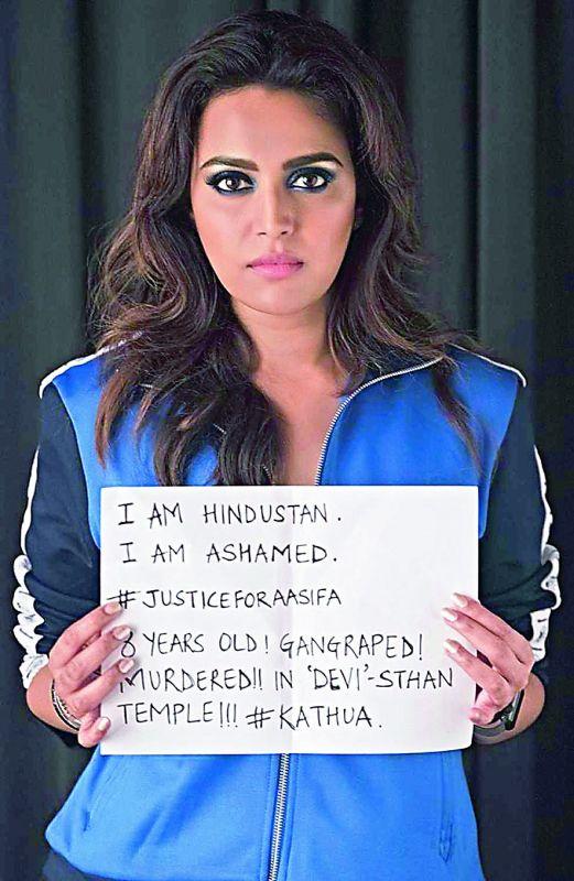 Swara Bhaskar was trolled for posting her views on the Kathua rape case.