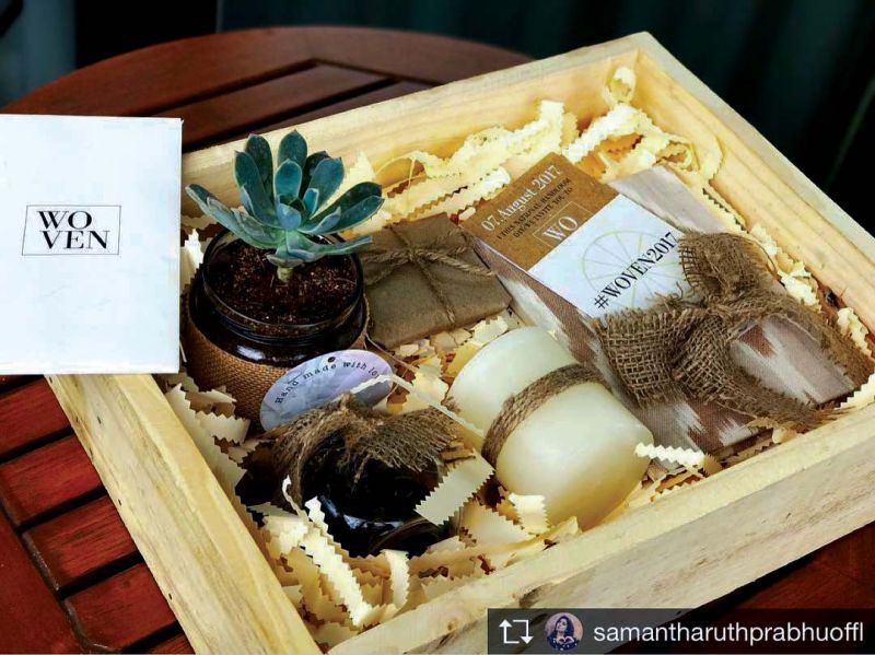 An invite created by Anam Mirza for Samantha Prabhu's special fashion event.
