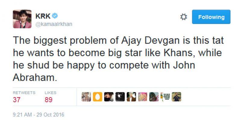 KRK tweets Shivaay