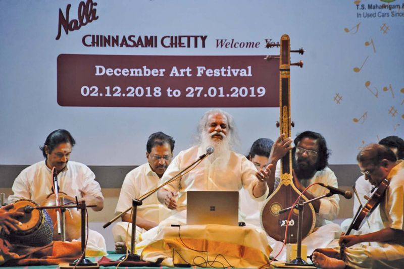 K.J.Yesudas performs at Brahma Gana Sabha. (Photo: DC)