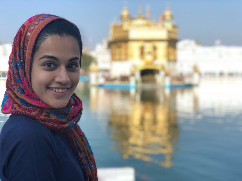 Taapsee Pannu at The Golden Temple.